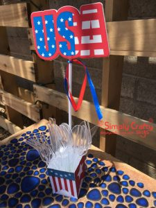 USA Banner Box with Utensils
