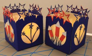 July 4th Tealight Holder Free SVG