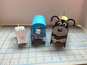 Dog Box Paper Model