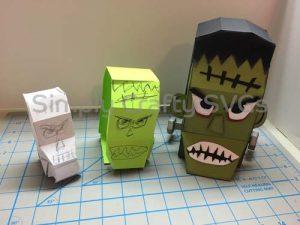 Frankenstein Box Paper Model
