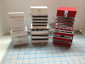 Tool Chest Box Paper Model