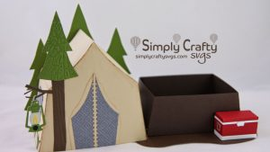 Tent Camping Box SVG File
