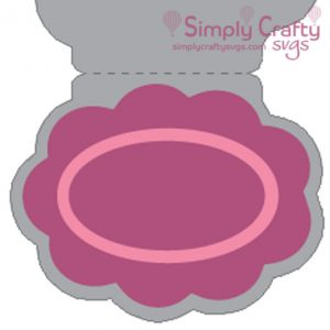 Scallop Thanks Card SVG File