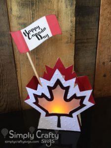 Canada Day Lantern SVG File