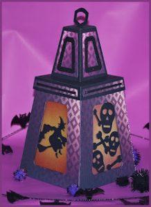 Spider and Skulls Halloween Lantern