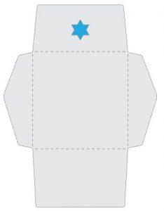 Hanukkah Menorah Card Envelope