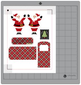 Santa Express Box Card by DT Janet
