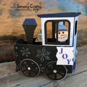 Snowman Train Card