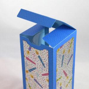 Square Wine Glass Box SVG File Blue
