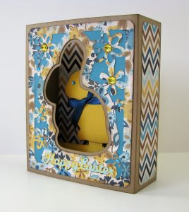 Chocolate Bunny Box Card by Nanc