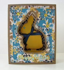 Chocolate Bunny Box Card by Nancy