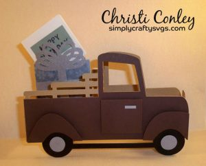 Birthday Truck Card by DT Christi