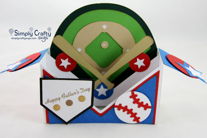 Free I am starting on my valentine's day cards with this project. At The Ballpark Box Card Svg File Simply Crafty Svgs SVG, PNG, EPS, DXF File