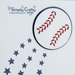 Baseball Stars Card SVG File
