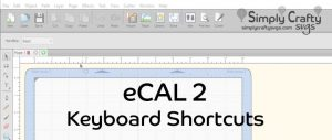 eCAL 2 Keyboard Shortcut Reference