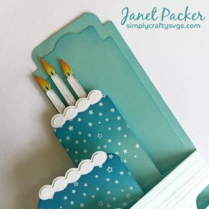 Tiered Ombre Cake Box Card By DT Janet