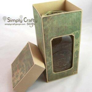 Quart Mason Jar Box SVG File
