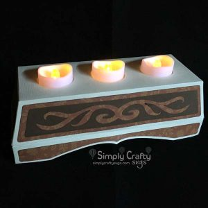 Flourish Tealight Holder SVG File