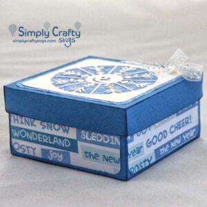 Snowman Snowflake Gift Box SVG File