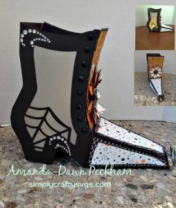 Witch Boot Lantern by DT Amanda