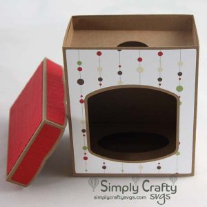 Disc Ornament Box with Lid 4 in SVG File