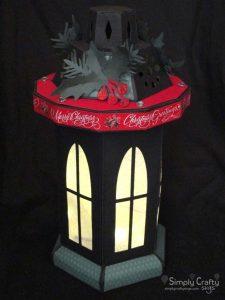 Tall Window Lantern - Christmas Version