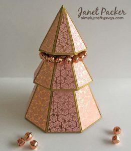 Geometric 3D Christmas Tree Box