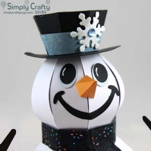 Smiling Snowman SVG File