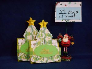 Christmas Tree Double Fold Card by DT Jana