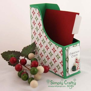 Christmas Magazine Style A2 Card Box SVG File