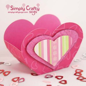 Heart Treat Box SVG File