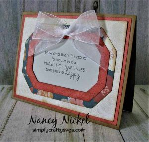 Frame Card with Flip Over Greeting Card Holder by DT Nancy
