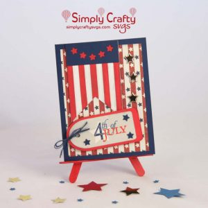 USA Banner Box 4th of July Card