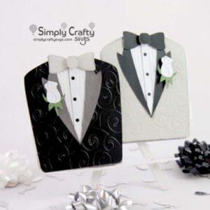 Gay Wedding Tuxedos Card SVG File