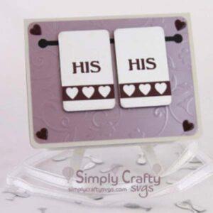 Hanging Towel Wedding Card SVG File